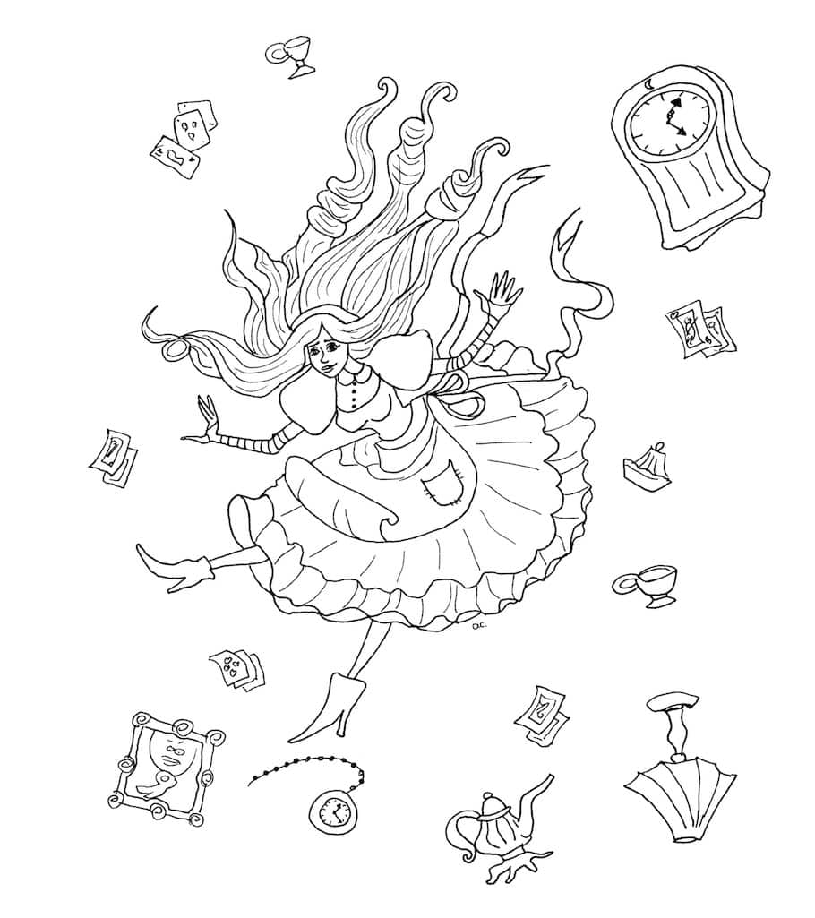 Alice in Wonderland doodle - Alice in Wonderland Doodle