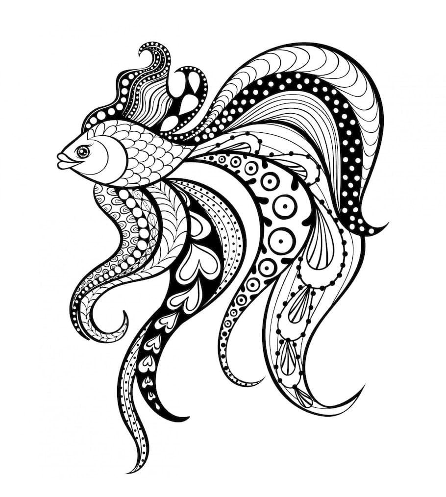 beautiful fish doodle - Beautiful Fish Doodle