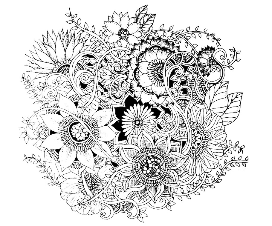 beautiful flowers doodle - Beautiful Flowers Doodle