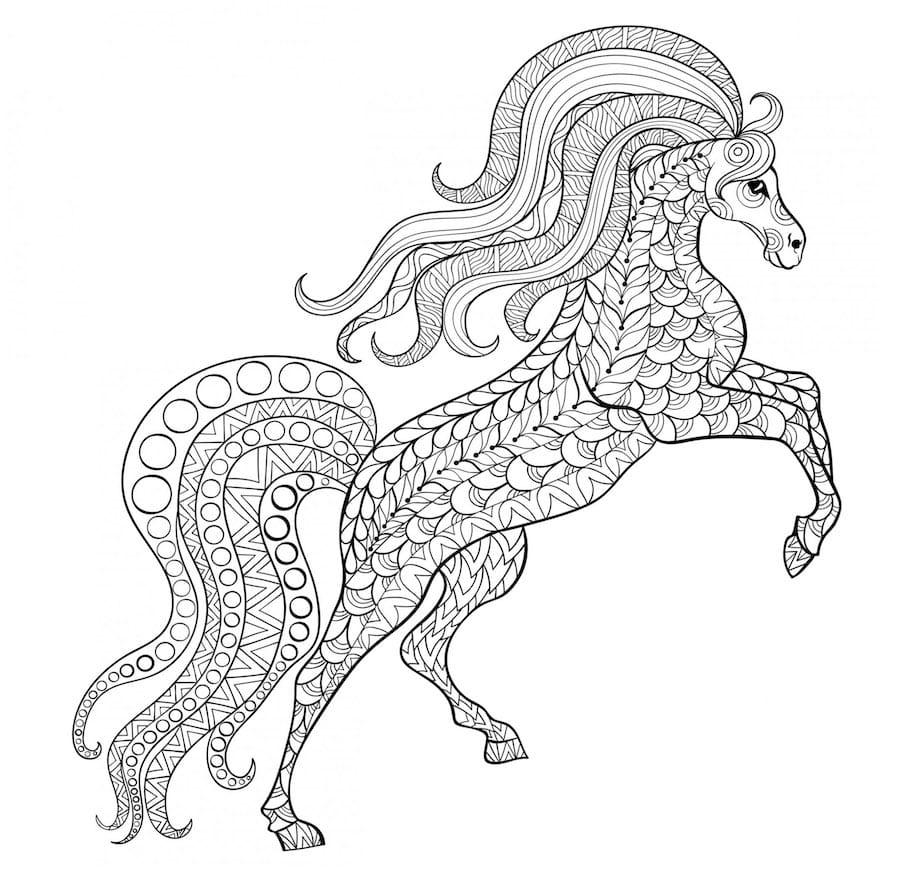 beautiful horse doodle - Beautiful Horse Doodle