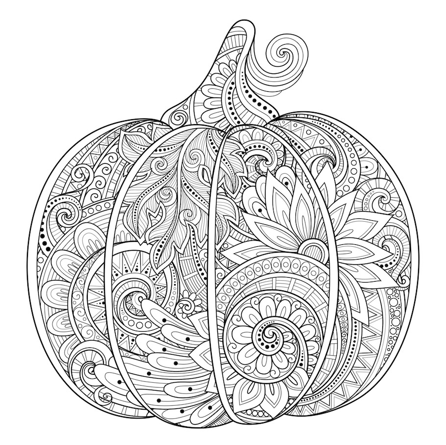 beautiful ornament pumpkin doodle - Beautiful Ornament Pumpkin Doodle
