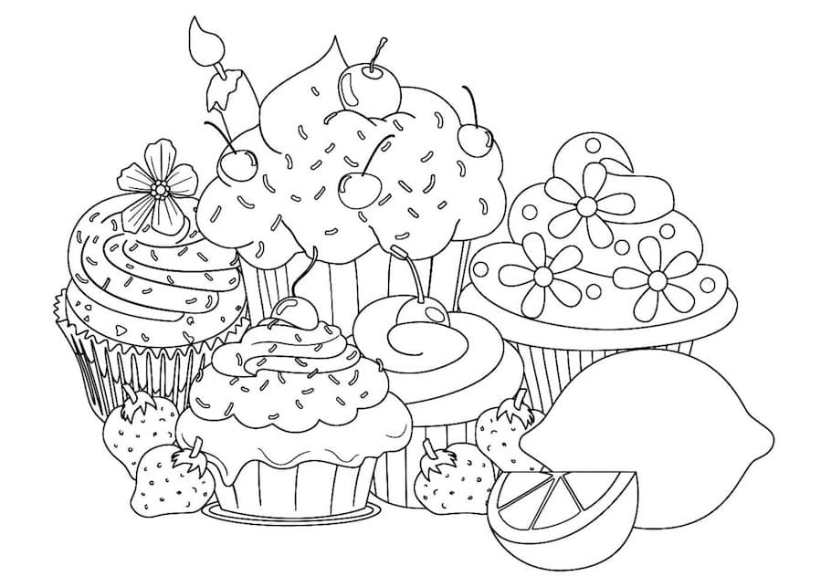 birthday cakes and sweets doodle - Birthday Cakes and Sweets Doodle