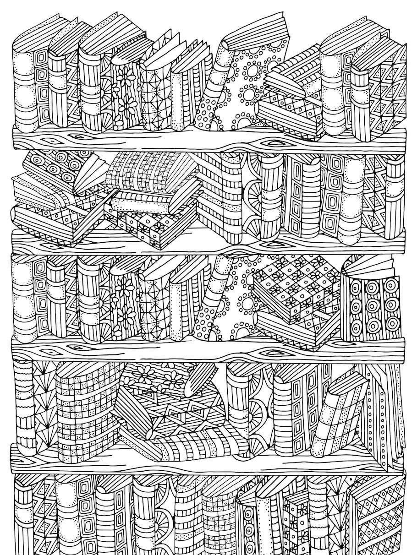 bookshelf doodle - Bookshelf Doodle