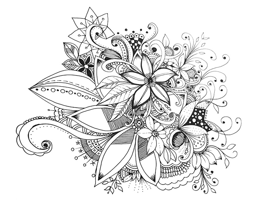 bunch of flowers doodle - Bunch of Flowers Doodle