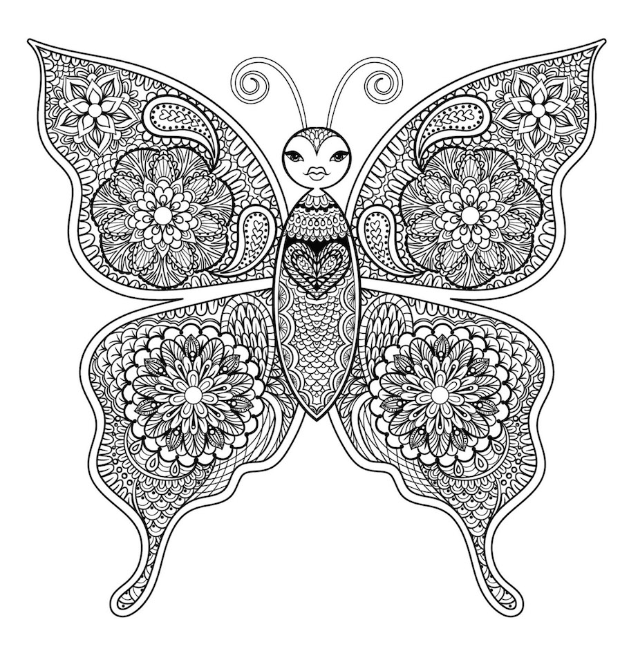 butterfly doodle 9 - Butterfly Doodle (9)