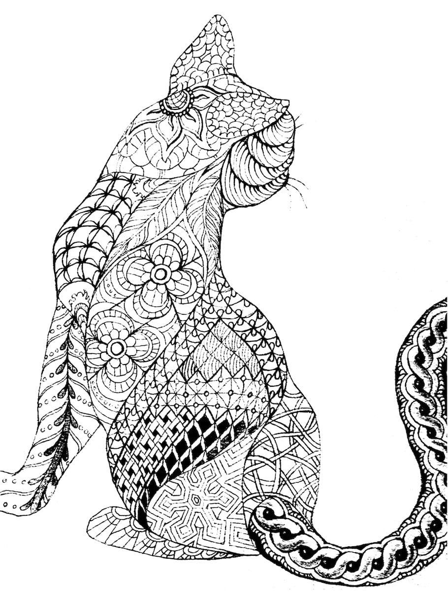 cat from behind doodle - Cat from Behind Doodle