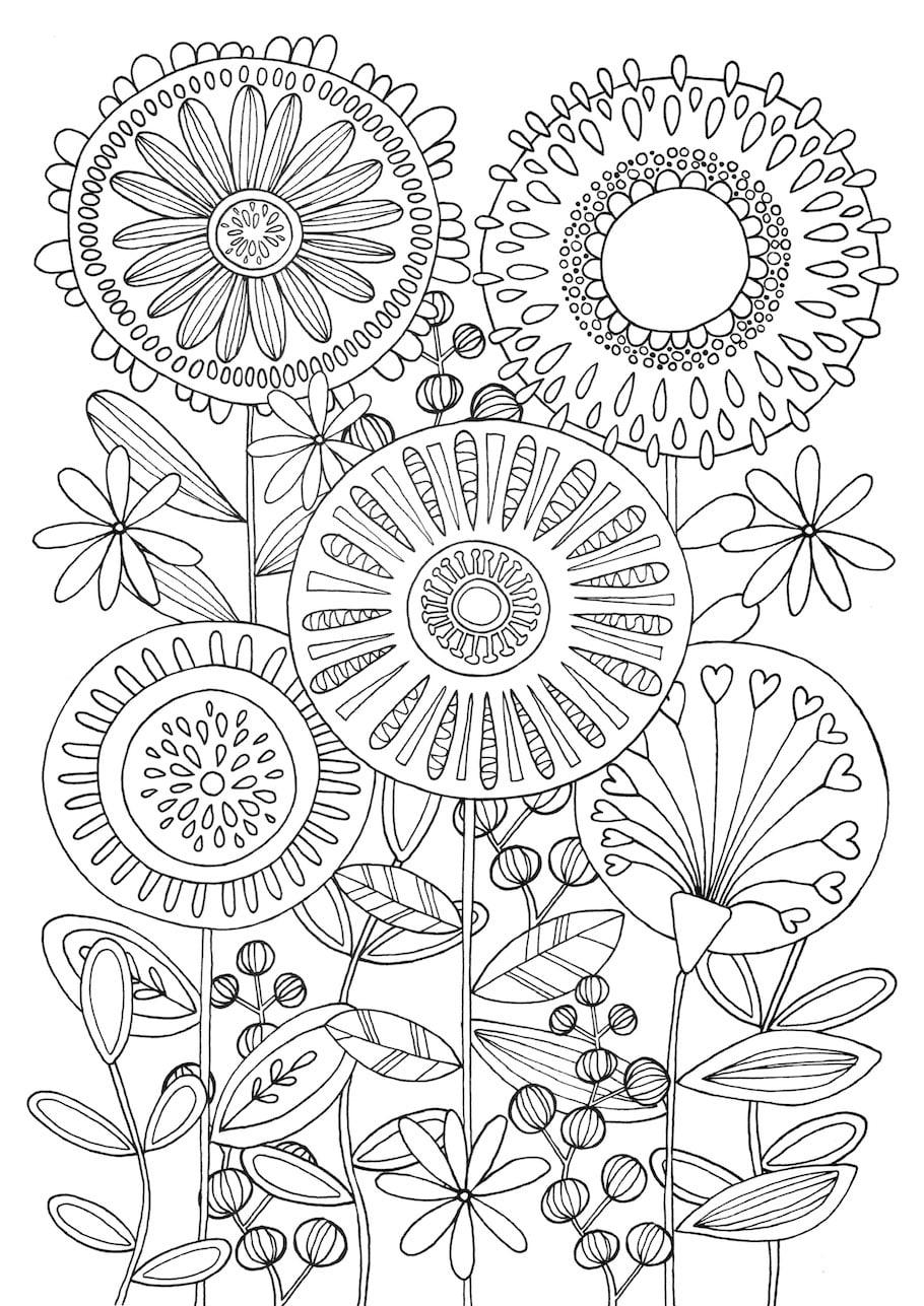 circular flowers doodle - circular-flowers-doodle