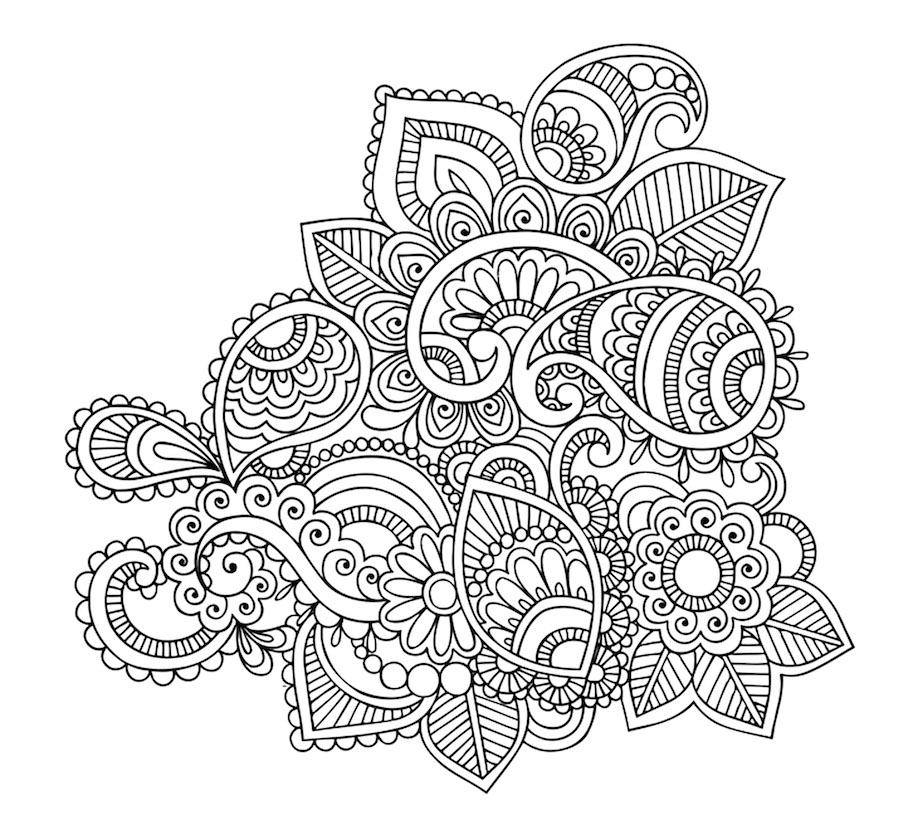 clean floral element doodle - Clean Floral Element Doodle