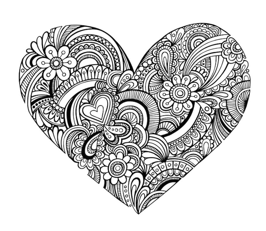 detailed heart doodle - Detailed Heart Doodle