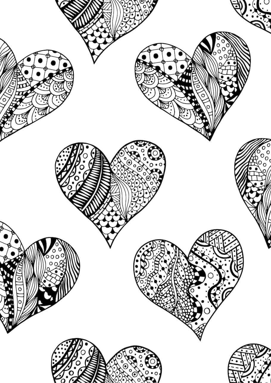 Hard Heart Coloring Pages Love