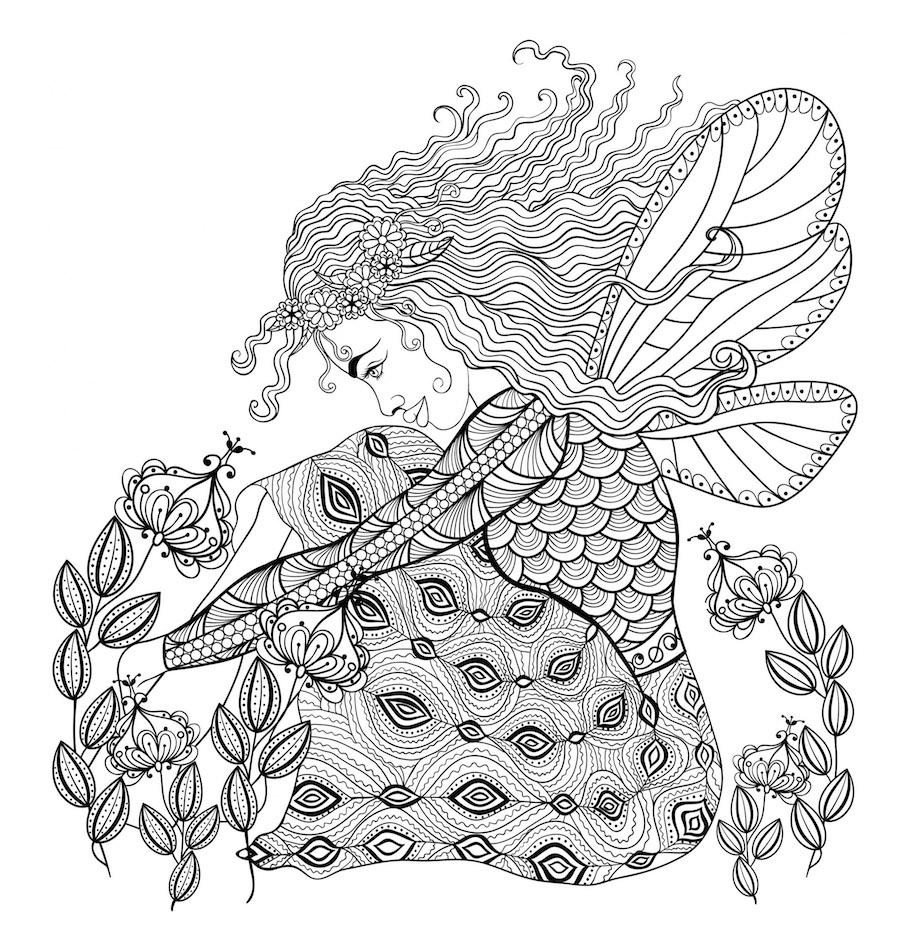 dragonfly girl doodle - Dragonfly Girl Doodle