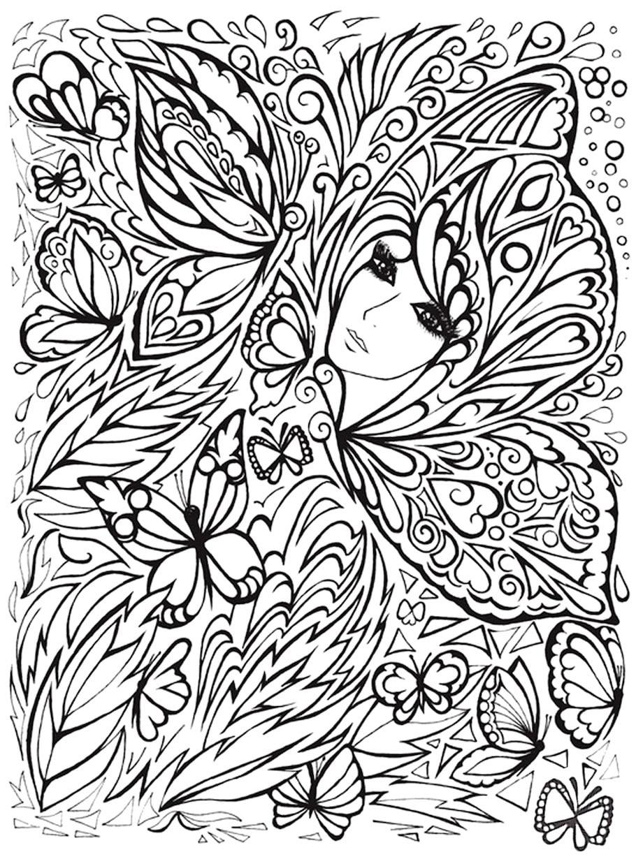 fantasy girl doodle 2 - Fantasy Girl Doodle (2)