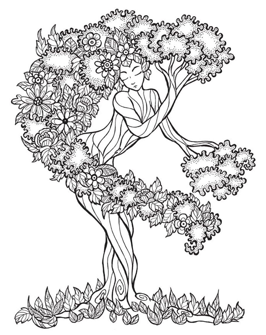 fantasy tree doodle - Fantasy Tree Doodle