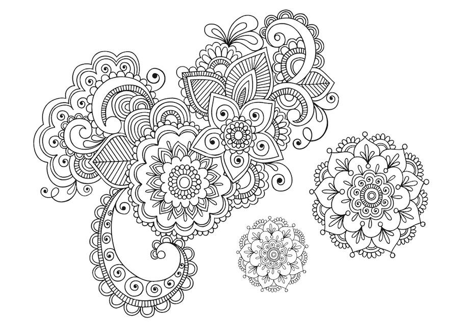 floral elements doodle 3 - Floral Elements Doodle (3)