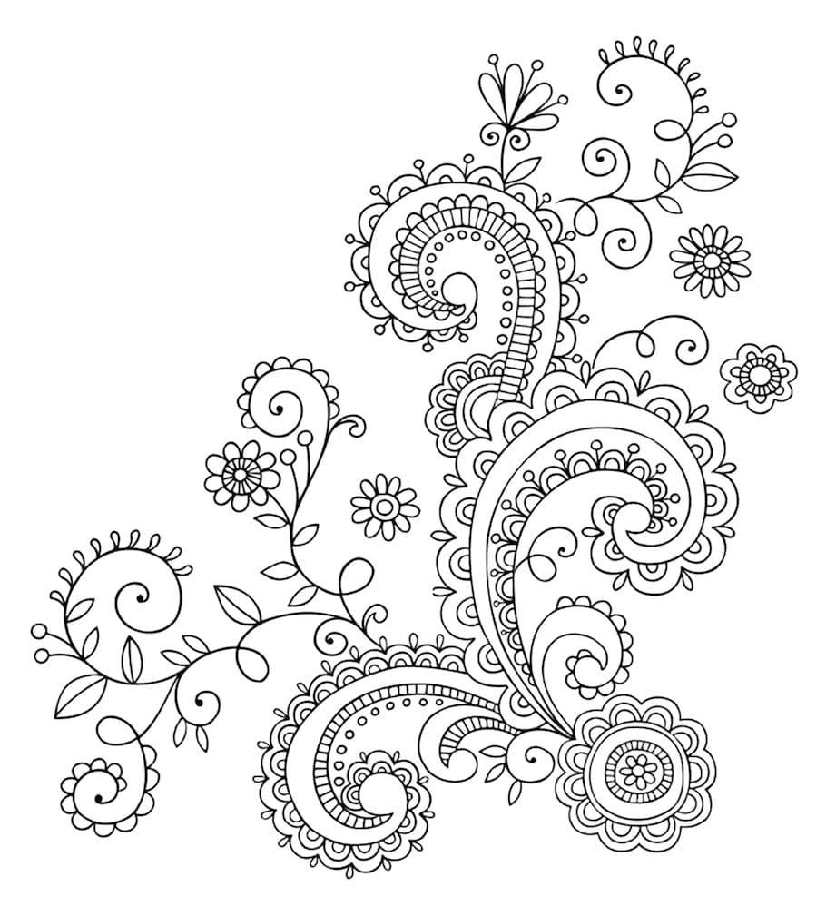 flower element doodle 2 - Flower Element Doodle (2)