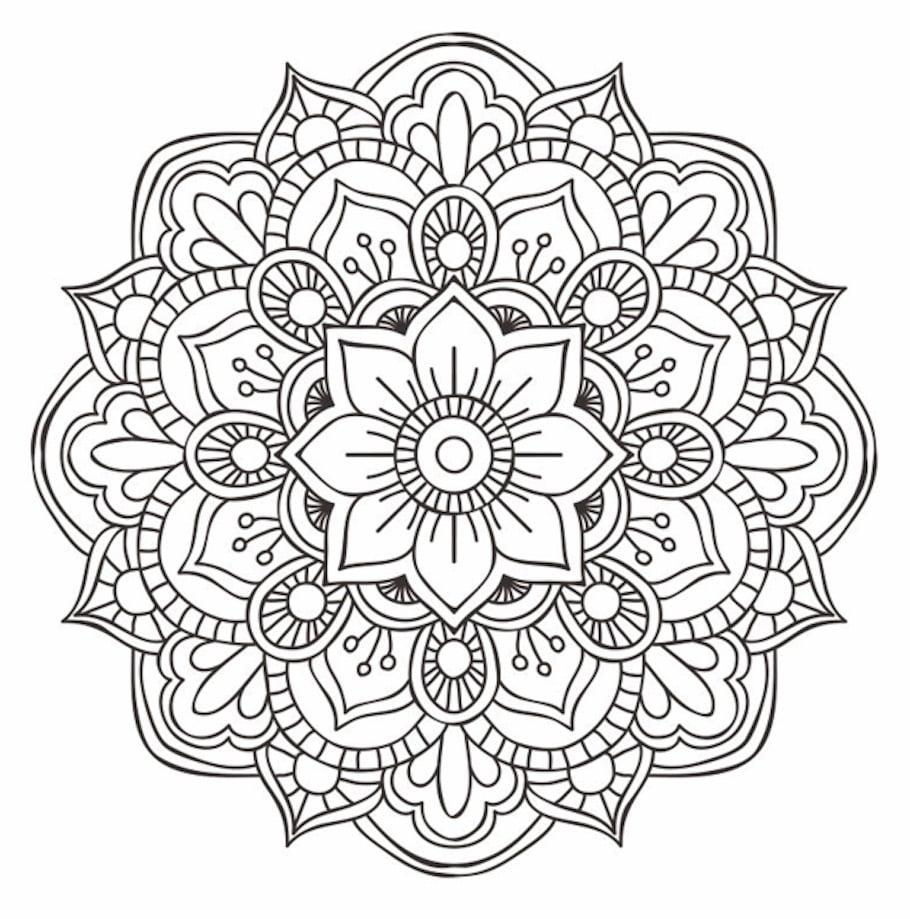flower mandala doodle 2 - Flower Mandala Doodle (2)
