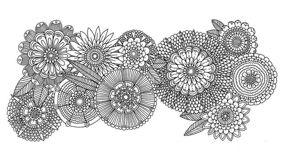 flower pattern doodle - Flower Pattern Doodle