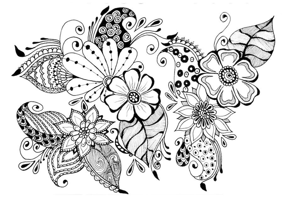 flowers doodle - Flowers Doodle