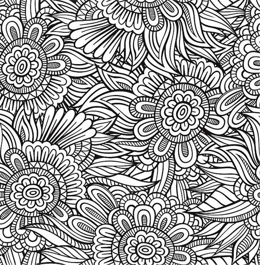 flowers pattern 2 doodle - Flowers Pattern 2 Doodle