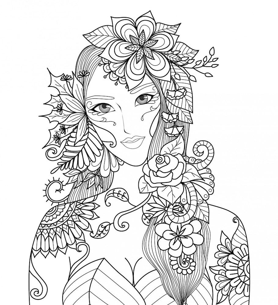 forest girl doodle - Forest Girl Doodle
