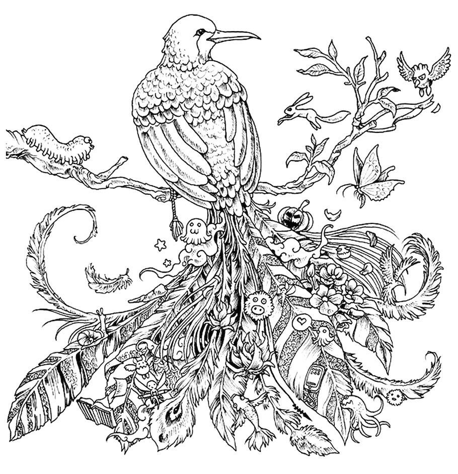 halloween bird doodle - Halloween Bird Doodle