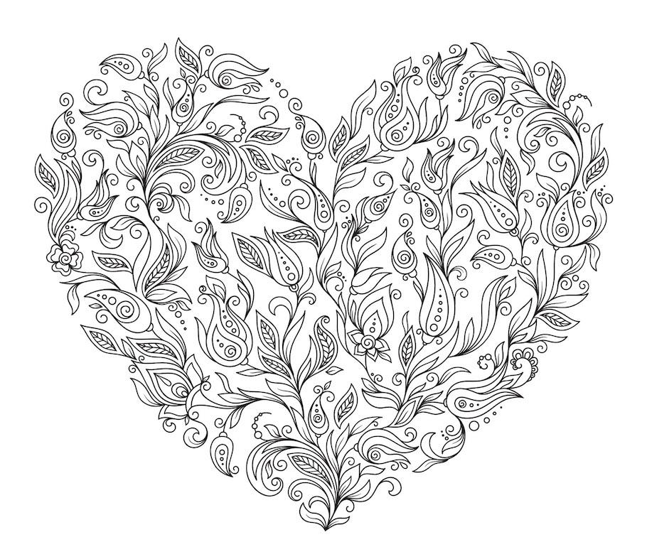 heart doodle 2 - Heart Doodle (2)
