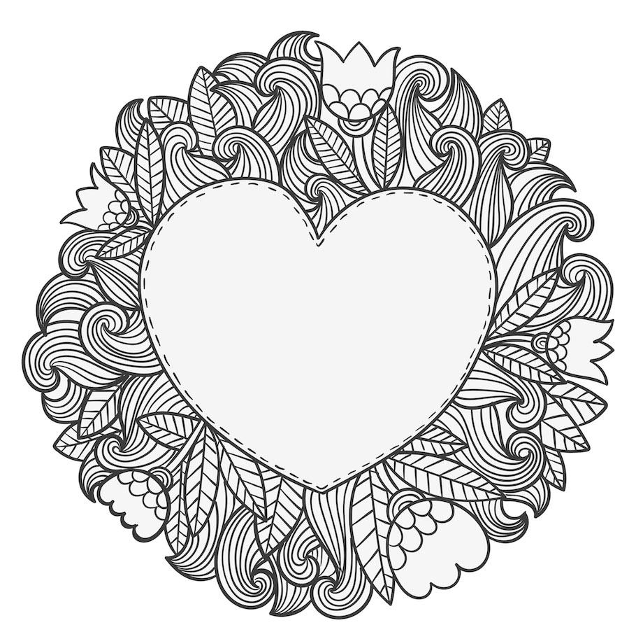 heart emblem doodle - Heart Emblem Doodle