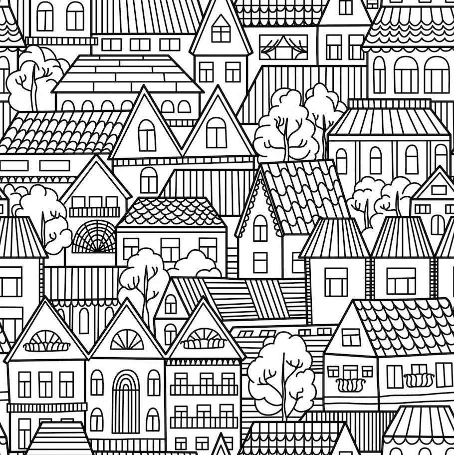 houses doodle - Houses Doodle