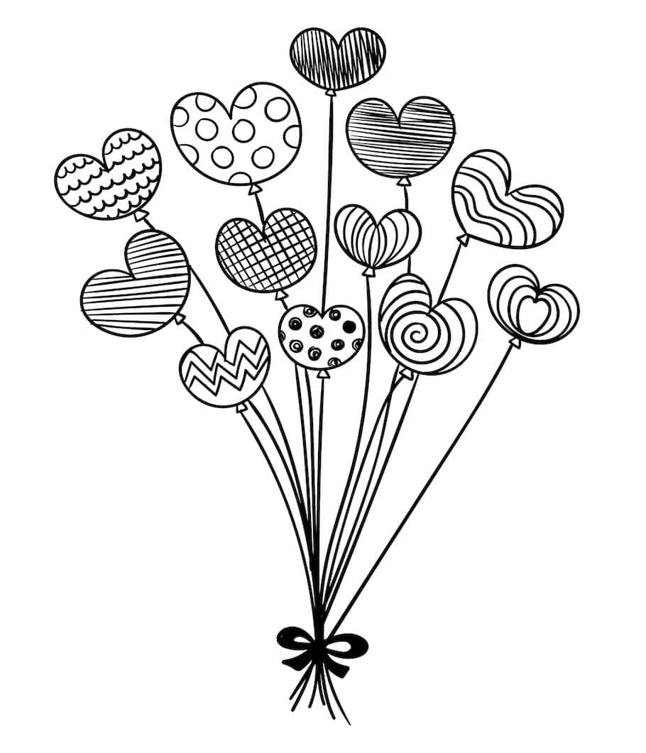 love baloons doodle - Love Balloons Doodle