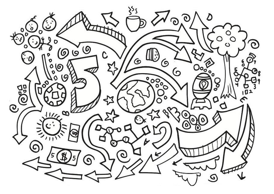number five doodle - Number Five Doodle