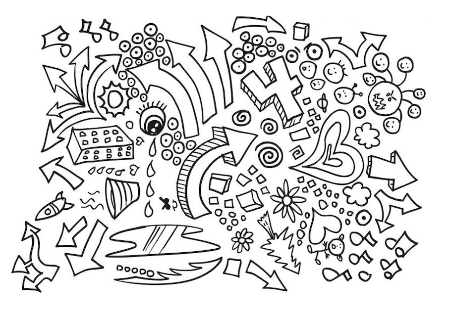 number four doodle - Number Four Doodle