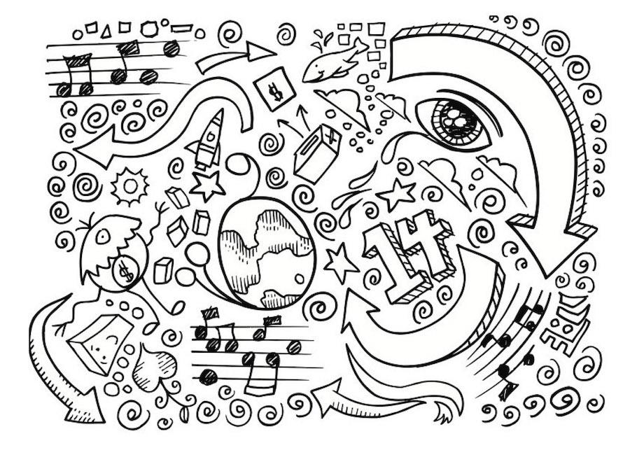 number fourteen doodle - Number Fourteen Doodle