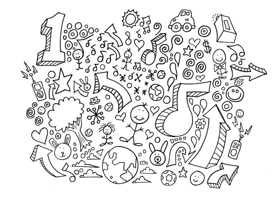 number one doodle - Number One Doodle
