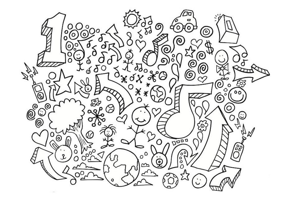 number one doodle - Number One Doodle