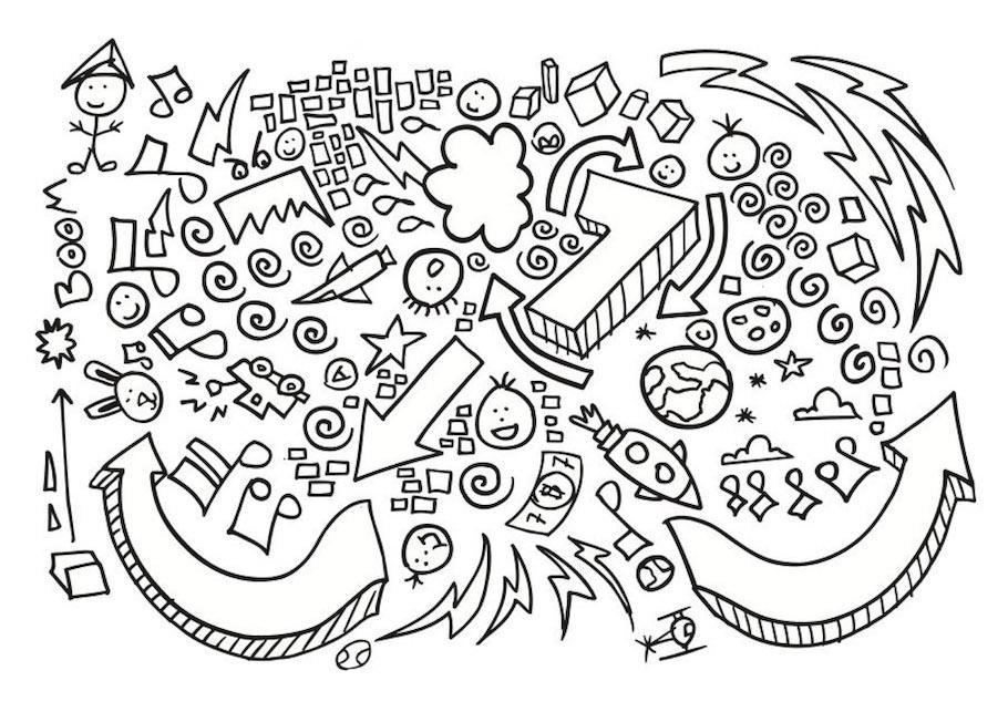 number seven doodle - Number Seven Doodle
