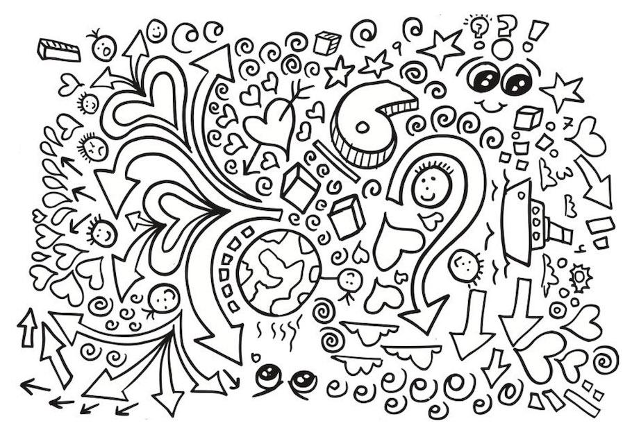 number six doodle - Number Six Doodle