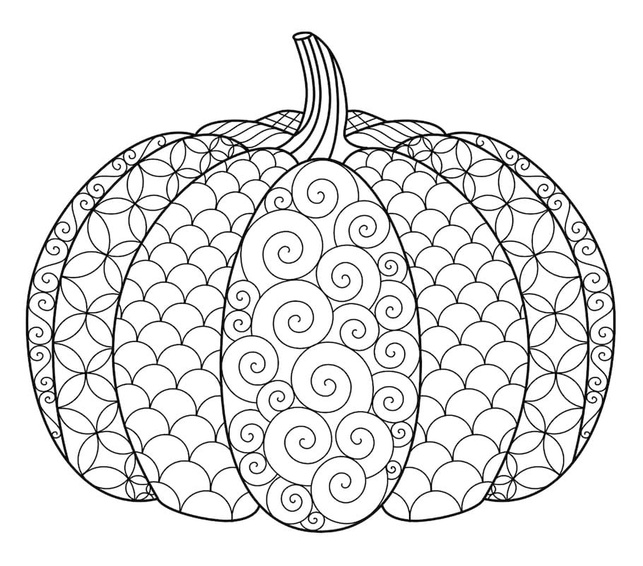 Halloween doodles doodle coloring pages for Pumpkin coloring pages for adults