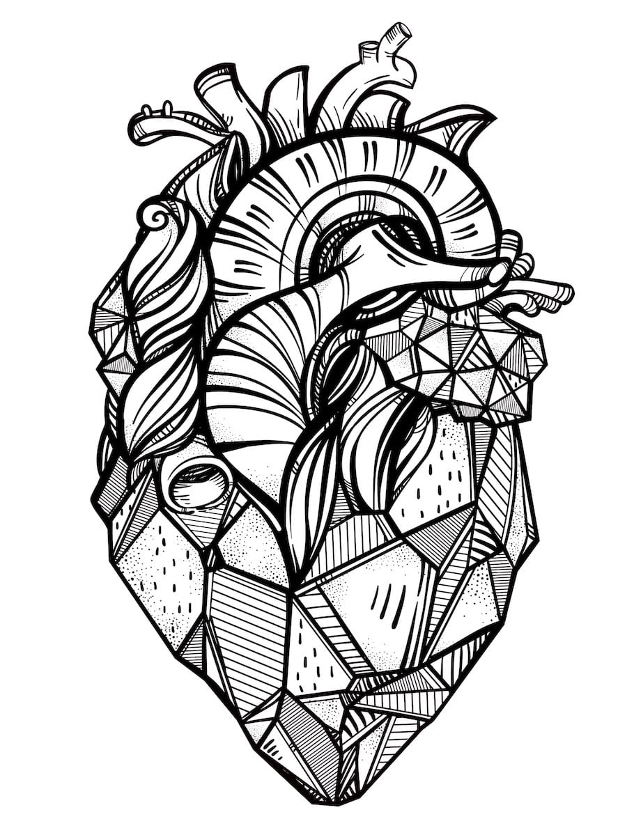 real heart doodle - Real Heart Doodle