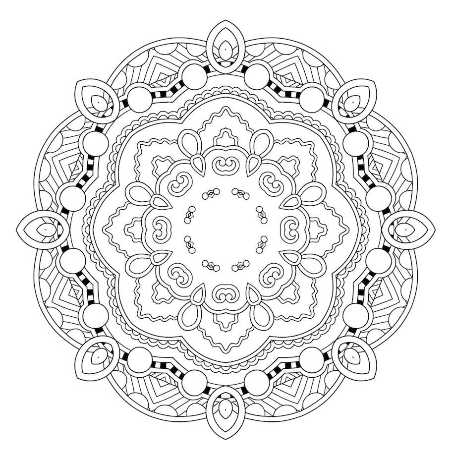 round mandala doodle 4 - Round Mandala Doodle (4)