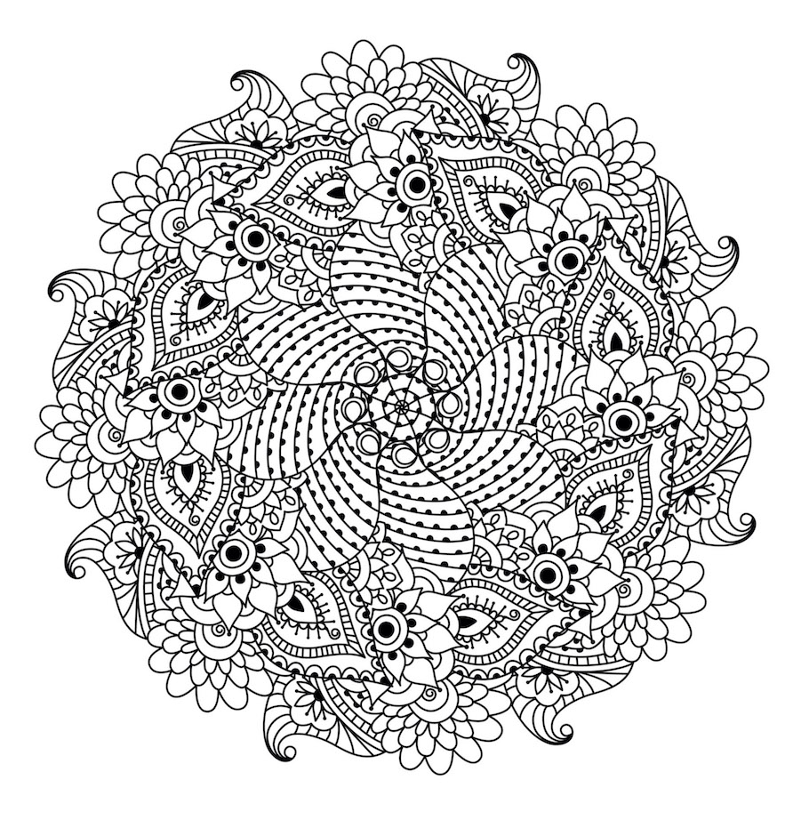 round mandala doodle 5 - Round Mandala Doodle (5)