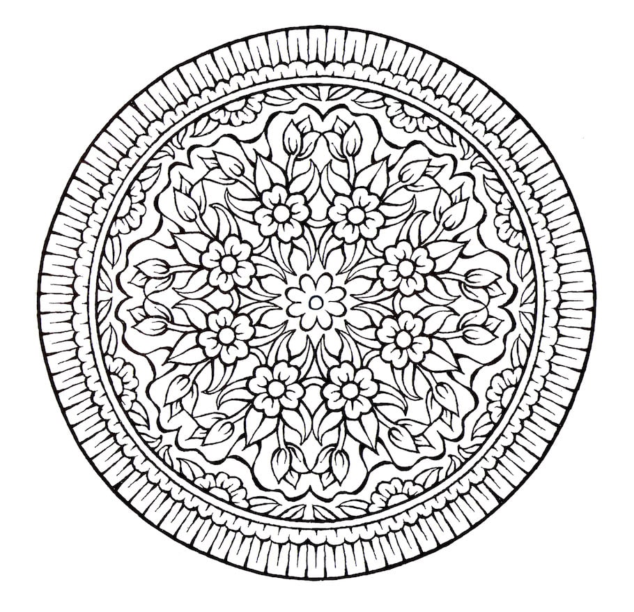 Mandala Doodles Doodle Coloring