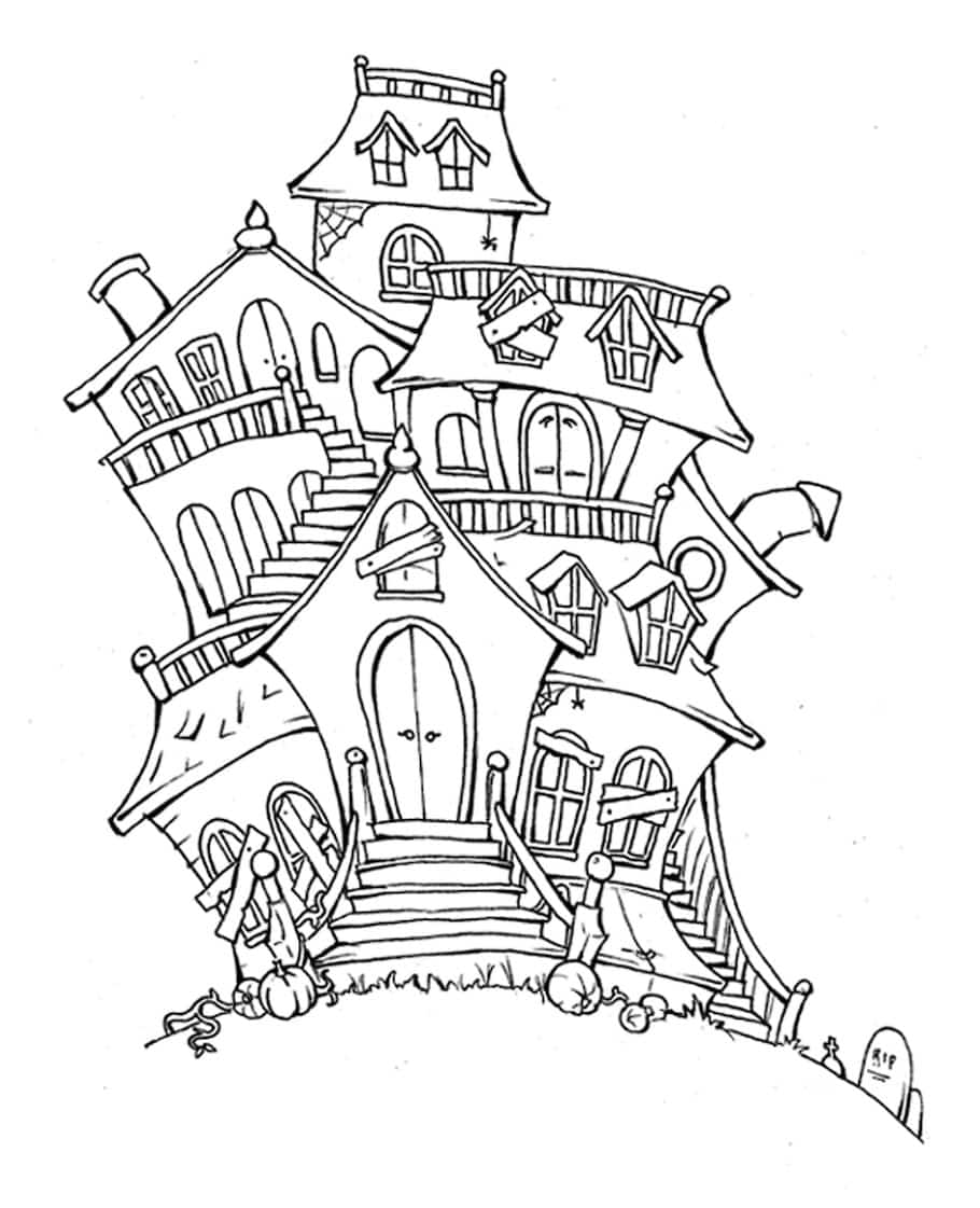 scary house doodle - Scary House Doodle