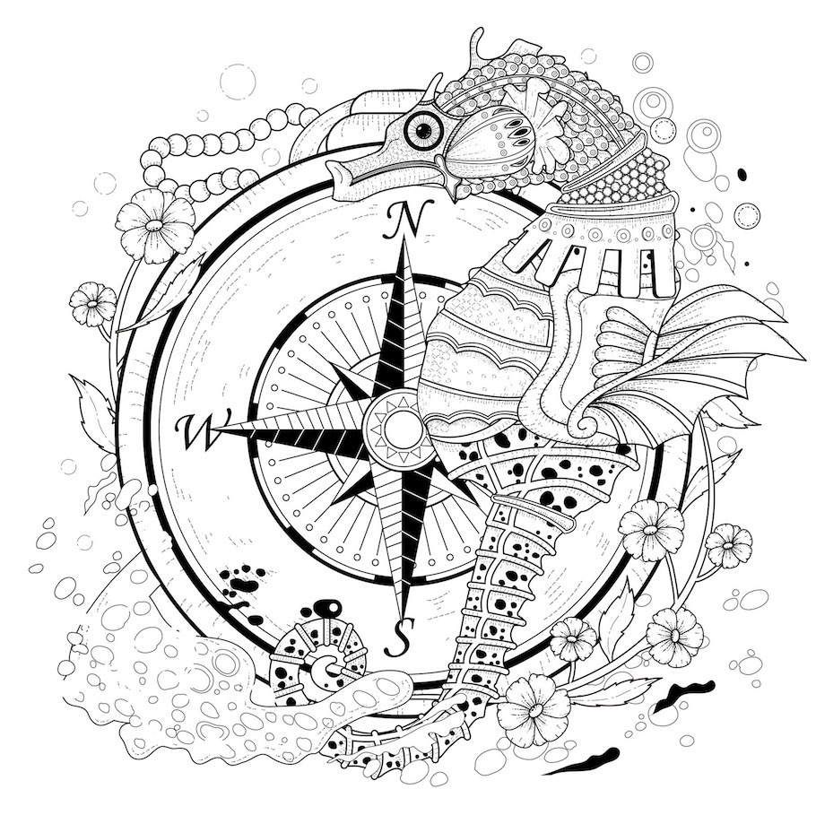 seahorse doodle - Seahorse Doodle