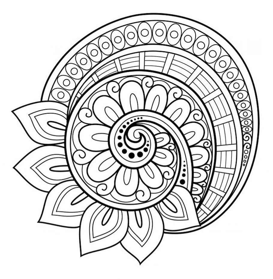 Free Mandala Patterns Fill In Mandala Royalty Free Stock