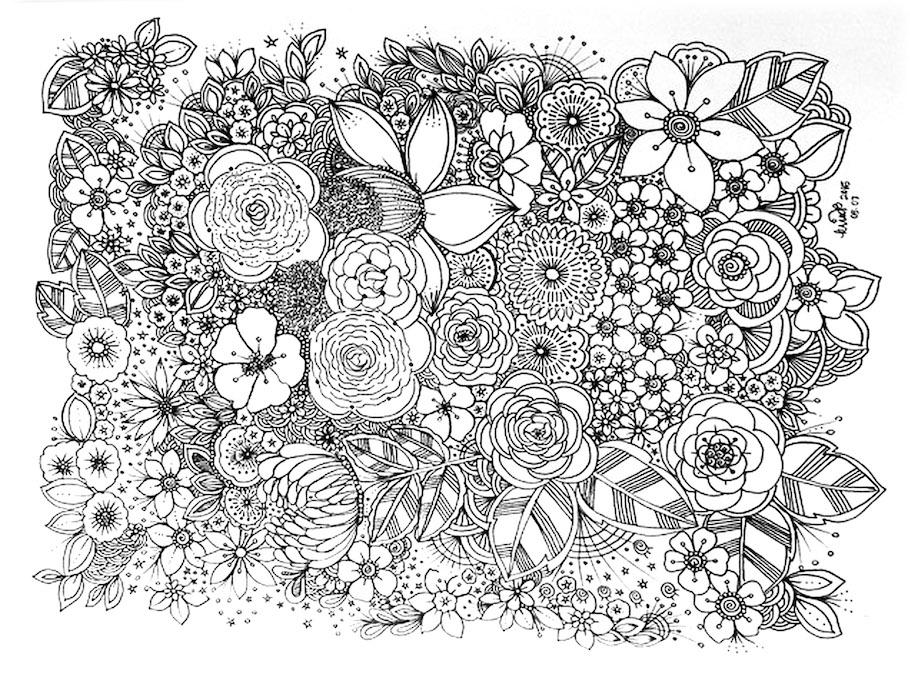 so many flowers doodle - So Many Flowers Doodle