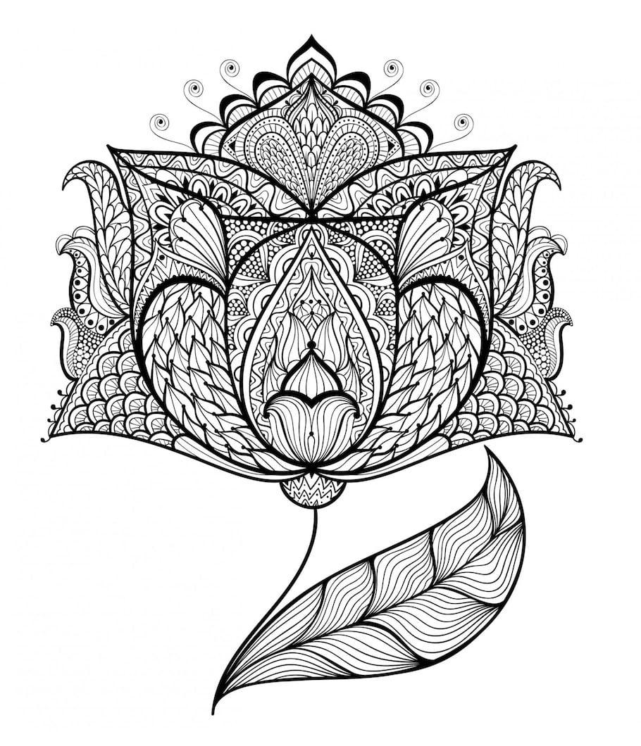 sophisticated flower doodle - Sophisticated Flower Doodle