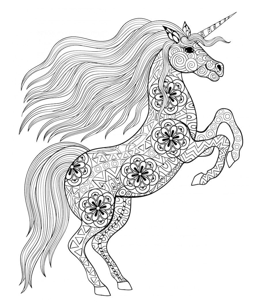 standing unicorn doodle - Standing Unicorn Doodle