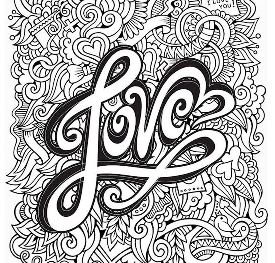 Love doodles doodle coloring pages for Doodle coloring pages